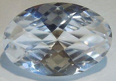Oval Checkerboard 10x15 mm 8.2 ct VVS IF White Sapphire Brilliant Diamond Cut