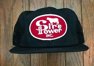Vintage Sire Power Farm Trucker Hat Snapback Hat Baseball Cap Patch USA Made