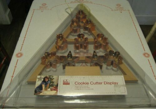 """Katie Brown Cookie Cutter Display is Treemendous! 20"""" Wood Xmas Tree w/ Copper"""
