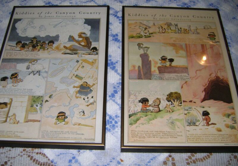 Kiddies Of Canyon Country JAMES SWINNERTON Cartoon PageS 1922 & 1923