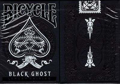 Black Ghost Deck (Black Ghost Legacy Bicycle Playing Cards Poker Size Deck USPCC ellusionist New )