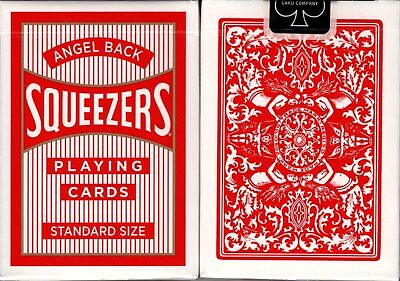 Angel Back Red Squeezers Playing Cards Poker Size Deck USPCC Custom Limited New