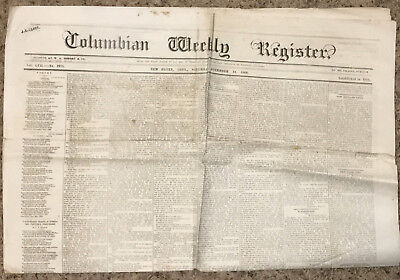 Antique Newspaper   May 27  1871  Columbian Weekly Register  New Haven  Conn