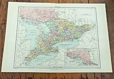 circa 1880s map of ontario !  ( adam & charles black )