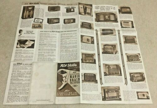 Vintage 1942 RCA VICTOR Magic Brain Victrola Plus 20 New RADIOS Brochure