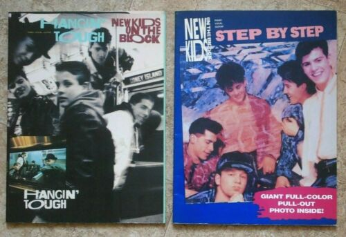 NEW KIDS ON THE BLOCK Lot of 2 PVG Songbooks: Hangin