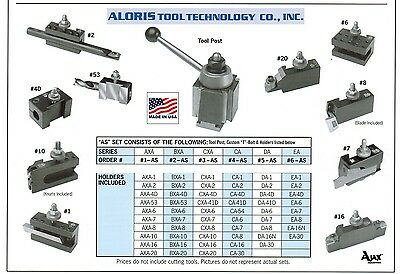 Aloris Ca Quick Change Lathe Tool Post 10 Holder Set 4-as