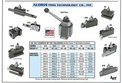 Aloris Axa Quick Change Lathe Tool Post 10 Holder Set 1-as