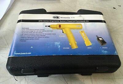 Ok Industries Epb-2066 Ergonomic Punchdown Tool Battery 66 Blade 230v Charger