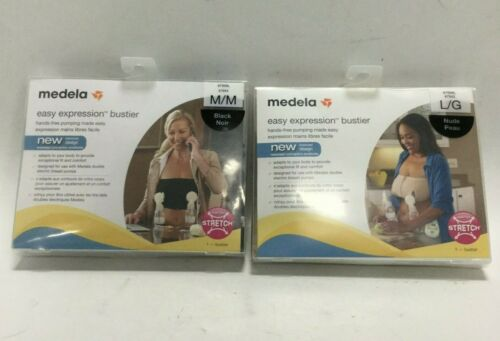 Medela Breast Feeding Pumping Bustier Hands Free Easy Expression Comfort Adapt