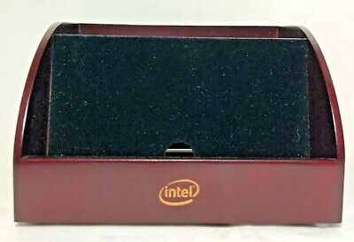 Vtg Intel Marketing Piece - Wood Organizer For Electronics Phones Remotes