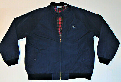 MEN'S IZOD LACOSTE LIGHTWEIGHT BLUE JACKET! ALLIGATOR LOGO! ZIP-UP! CLASSIC! XL
