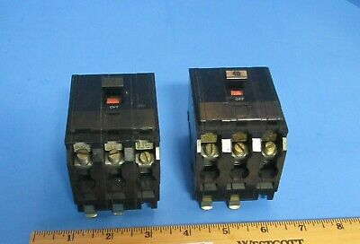 Square D Qo340 Circuit Breaker 40 Amp 3 Pole 240 Volt Plug In With Lugs