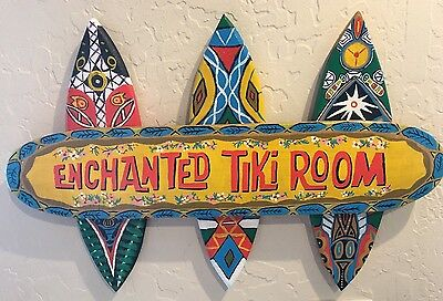 Hand Painted Enchanted Tiki Room Sign Disneyland Disney World