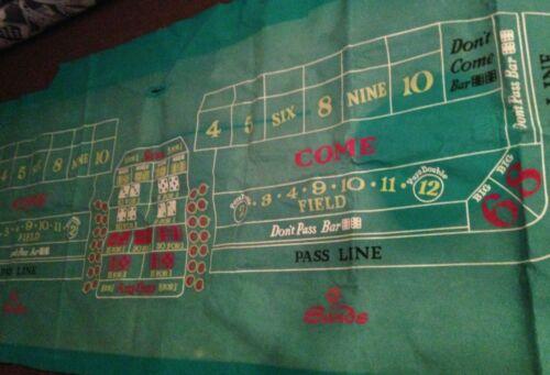 Sands Casino Craps Table Felt 10