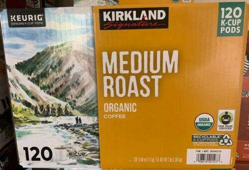 Kirkland Signature Medium Roast, Organic Coffee, 120 Count - Free 24hr Shipping!