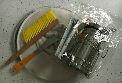 Beekeeping Kit Stainless Smoker Hive Tool Brush And Hat With Veil