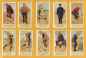 Cope Cigarette Cards - COPES GOLFERS - Mint condition Full Set