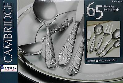Cambridge Laila 65pc Hostess Set High Quality Stainless Steel Flatware on sale