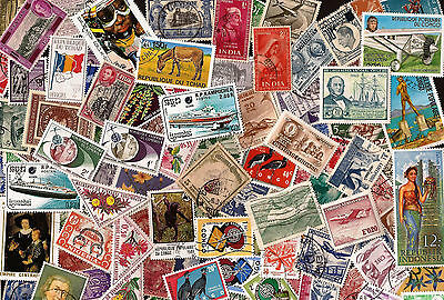 [Lot A1] 100 Different Worldwide Stamp Collection