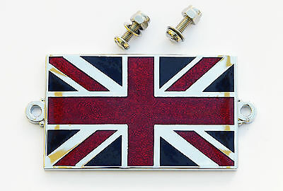 Automobilia Car Badges Auto Mascot British Union Jack Flag Enamel Kings Crown Classic Car Badge