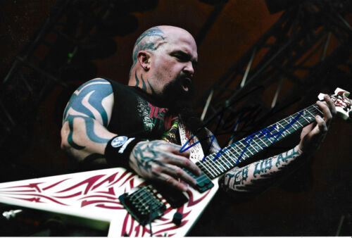 """Kerry King """"Slayer"""" signed 8x12 inch photo autograph"""