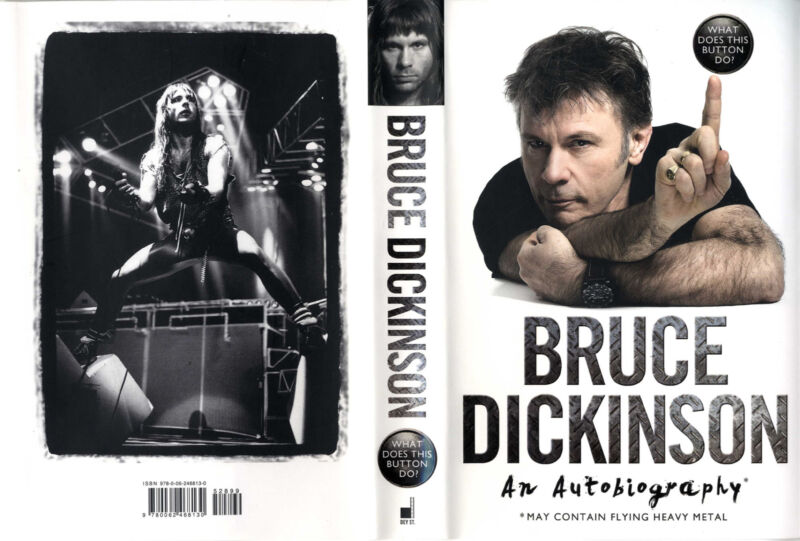 Bruce Dickinson Signed What Does This Button Do First Edition Autobiography