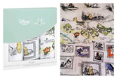 Aden + Anais Winnie the Pooh Classic Swaddle 3 pk Disney Baby Hundred Acre 70cm