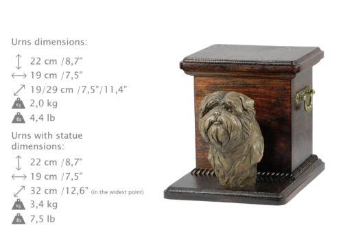 Affenpinscher, dog urn made of cold cast bronze, ArtDog,USA - kind2
