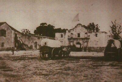 The Alamo San Antonio Texas 1868 Us Army Quarter  American History Flag Postcard
