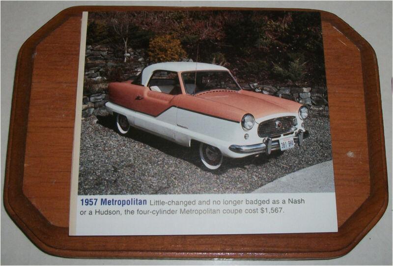 1957 AMC Metropolitan Hardtop Car Plaque