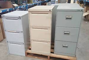 THREE DRAWER FILING CABINETS - storage work office home study Murarrie Brisbane South East Preview