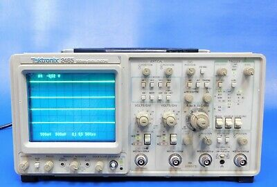 Tektronix 2465 Analog Oscilloscope 300 Mhz 4ch Fully Tested