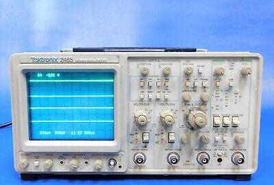 Tektronix 2465 Analog Oscilloscope 300 Mhz 4ch Fully Tested