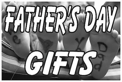 Gifts Banner Sign 24x 36 Vinyl Business Holiday Fathers Day Advertising