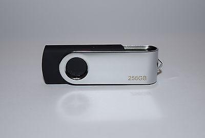 256GB USB 2.0 Flash Drive Disk Memory Pen Stick Thumb Key Storage Swivel Black