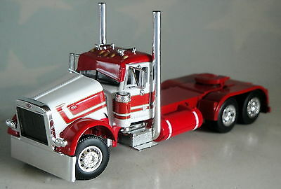 DCP RED WHITE PETERBILT 379 RED TANKS DAY CAB ONLY 1/64 DIECAST 33263