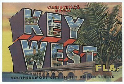 Florida Large Letter (Greetings from Key West Florida Southernmost City - Modern Large Letter)