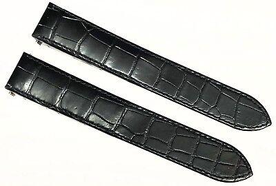 Authentic Cartier Roaster Black Alligator Leather Band 19MM KD2JJK97 - New