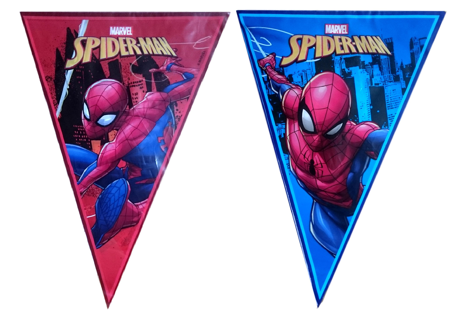 Spiderman Themed Children birthday party flag bunting banners UK Seller