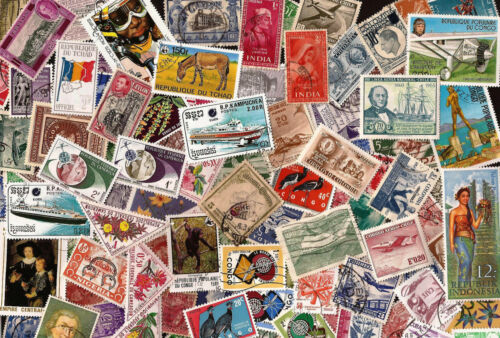 [Lot A] 100 Different Worldwide Stamp Collection - At least 50% Commemoratives!