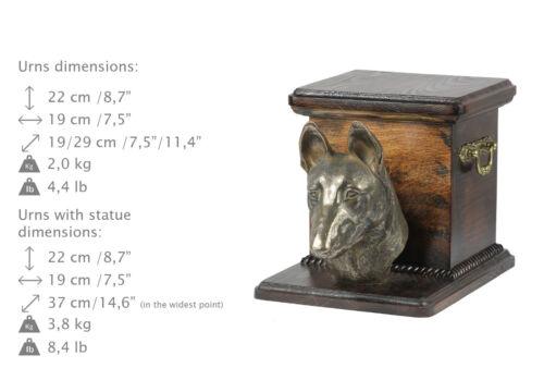 Malinois, dog urn made of cold cast bronze, ArtDog, CA - kind2
