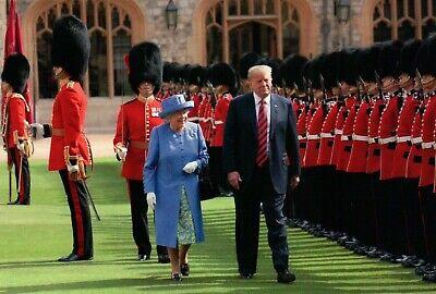 Queen Elizabeth II & President Donald J. Trump Windsor Castle - Modern Postcard