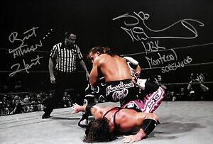 WWE-HBK-Shawn-Michaels-Bret-Hart-Signed-Mont-Screwjob-Photo-autograph-JSA-COA