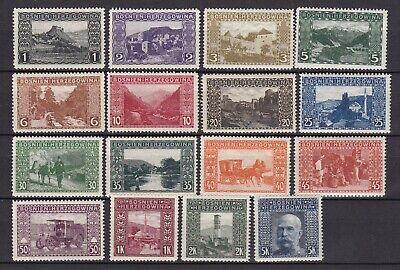 Bosnia Herzeg - 1906 - Michel 29/44 - MNH - 150 Euro