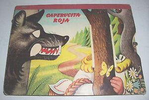 Kubasta - Caperucita Roja Rottkäppchen 1967 Artia Prag 3 D Pop up Bilderbuch !