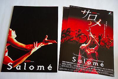 SALOME Aida Gomez Carlos Saura JAPAN PROGRAM BOOK 2004 w/Flyer Flamenco Ballet