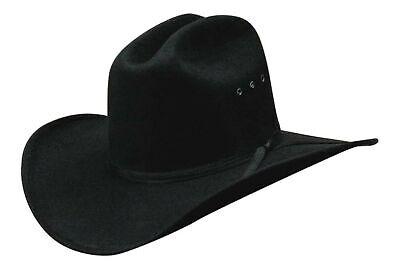All Black Faux Felt Child Cowboy Hat with Black Band Black Felt Child Cowboy Hat