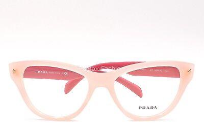PRADA 23S UEW-1O1 Eyeglasses Optical Frames Glasses Opal Pink on Pink ~ 52mm