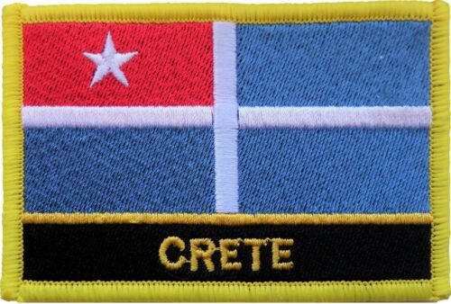 Greece Crete Flag Embroidered Patch - Sew or Iron on